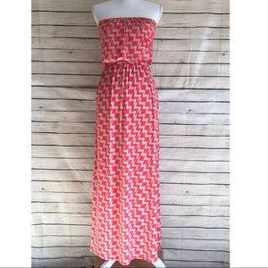 Three Pink Hearts Trixxi Geo Print Maxi Dress